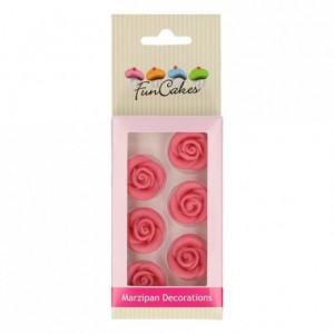 Décors en pâte d'amande FunCakes Roses Roses 6 pièces