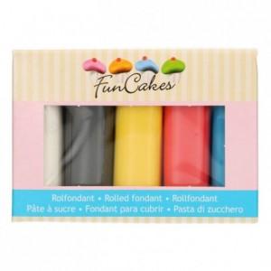Kit pâtes à sucre FunCakes couleurs primaires 5 x 100 g