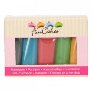 Kit pâtes d'amande FunCakes couleurs de base 5 x 100 g