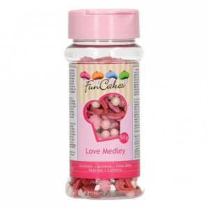 Medley en sucre FunCakes Amour 50 g
