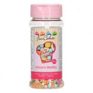 Medley en sucre FunCakes Licorne 50 g
