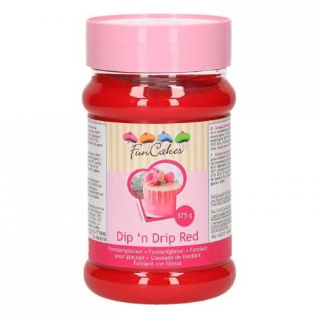 FunCakes Dip 'n Drip Red 375g