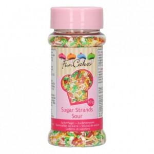 Vermicelles de sucre FunCakes couleurs acidulés 80 g
