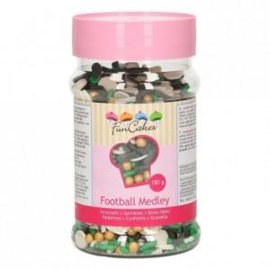 Medley en sucre FunCakes Football 180 g