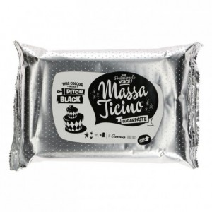 Massa Ticino Sugarpaste Pitch Black 1kg
