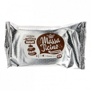 Pâte à sucre tropicale Massa Ticino marron chocolat 250 g