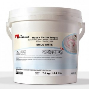 Pâte à sucre tropicale Massa Ticino blanc 7 kg