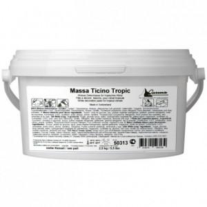 Pâte à sucre tropicale Massa Ticino blanc 2,5 kg