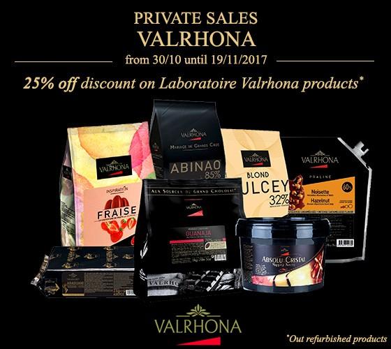 Private sales Valrhona 25% off discount